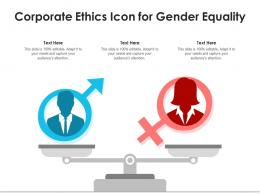 Corporate Ethics Icon For Gender Equality