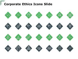 Corporate Ethics Icons Slide Checklist A122 Ppt Powerpoint Presentation Layouts Display