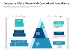 Corporate Ethics Model With Operational Compliance