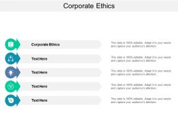 Corporate Ethics Ppt Powerpoint Presentation Slides Topics Cpb
