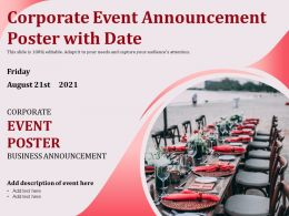 Corporate Event Announcement Poster With Date