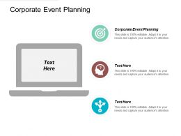 Corporate Event Planning Ppt Powerpoint Presentation File Design Ideas Cpb