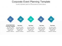 Corporate Event Planning Template Ppt PowerPoint Presentation Ideas Summary Cpb