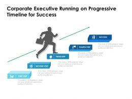 Corporate Executive Running On Progressive Timeline For Success
