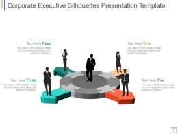 Corporate Executive Silhouettes Presentation Template