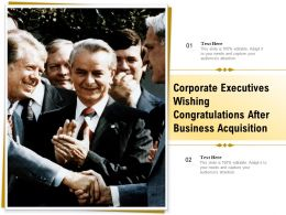 Corporate Executives Wishing Congratulations After Business Acquisition