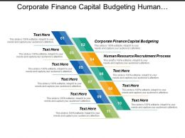 Corporate Finance Capital Budgeting Human Resource Recruitment Process Cpb
