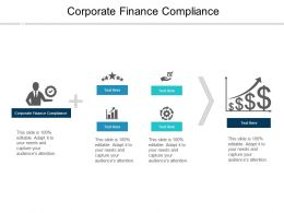 Corporate Finance Compliance Ppt Powerpoint Presentation Infographic Template Slides Cpb