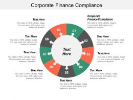 Corporate Finance Compliance Ppt Powerpoint Presentation Pictures Inspiration Cpb