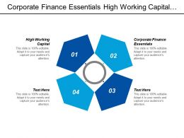 Corporate Finance Essentials High Working Capital Improving Working Capital Cpb