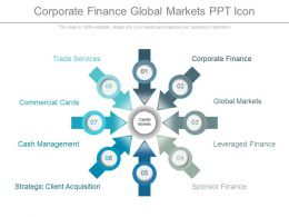 Corporate Finance Global Markets Ppt Icon