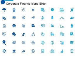 Corporate Finance Icons Slide Ppt Powerpoint Presentation Diagram