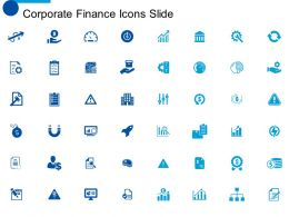 Corporate Finance Icons Slide Ppt Powerpoint Presentation File Aids