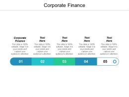 Corporate Finance Ppt Powerpoint Presentation Icon Visual Aids Cpb