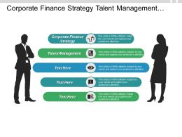 Corporate Finance Strategy Talent Management Promoting Global Business Plan Cpb