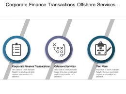 Corporate Finance Transactions Offshore Services Customer Experience Strategies Cpb