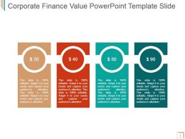 Corporate Finance Value Powerpoint Template Slide