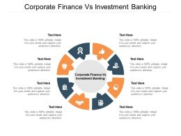 Corporate Finance Vs Investment Banking Ppt Powerpoint Presentation Layouts Structure Cpb