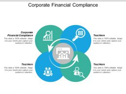 Corporate Financial Compliance Ppt Powerpoint Presentation Icon Show Cpb