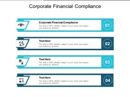 Corporate Financial Compliance Ppt Powerpoint Presentation Infographic Template Microsoft Cpb