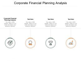 Corporate Financial Planning Analysis Ppt Powerpoint Presentation Images Cpb