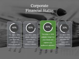 Corporate Financial Status Powerpoint Shapes