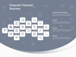 Corporate Financial Structure Ppt Powerpoint Presentation Diagrams