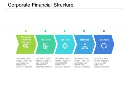 Corporate Financial Structure Ppt Powerpoint Presentation Portfolio Inspiration Cpb