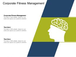 Corporate Fitness Management Ppt Powerpoint Presentation Infographic Template Portfolio Cpb