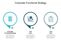 Corporate Functional Strategy Ppt Powerpoint Presentation Model Information Cpb