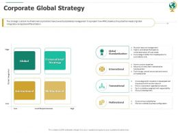 Corporate Global Strategy Ppt Powerpoint Presentation Pictures Show