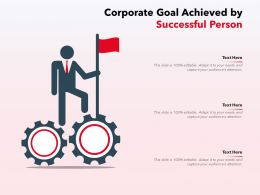 Corporate Goal Achieved By Successful Person