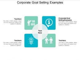 Corporate Goal Setting Examples Ppt Powerpoint Presentation Professional Designs Cpb