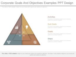 Corporate Goals And Objectives Examples Ppt Design