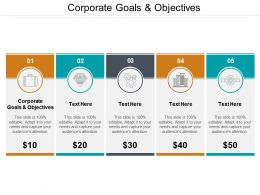 Corporate Goals And Objectives Ppt Powerpoint Presentation Outline Design Templates Cpb