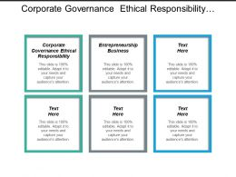 Corporate Governance Ethical Responsibility Entrepreneurship Business Organizational Management Cpb