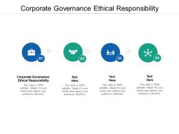Corporate Governance Ethical Responsibility Ppt Powerpoint Presentation Slides Cpb