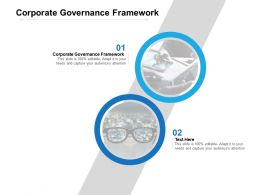 Corporate Governance Framework Ppt Powerpoint Presentation Template Example File Cpb