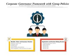 Corporate Governance Framework With Group Policies