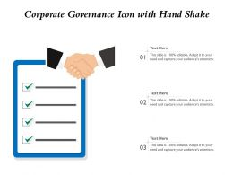 Corporate Governance Icon With Hand Shake