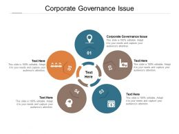 Corporate Governance Issue Ppt Powerpoint Presentation Pictures Graphics Template Cpb