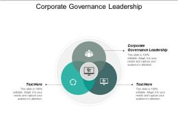 Corporate Governance Leadership Ppt Powerpoint Presentation Pictures Brochure Cpb