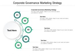 Corporate Governance Marketing Strategy Ppt Powerpoint Presentation Model Outfit Cpb