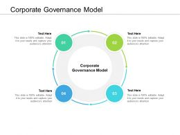 Corporate Governance Model Ppt Powerpoint Presentation Styles Grid Cpb