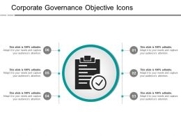 Corporate Governance Objective Icons Ppt Images