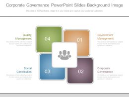 Corporate Governance Powerpoint Slides Background Image