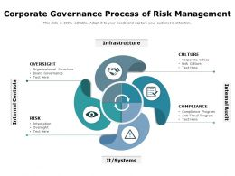 Corporate Governance Process Of Risk Management