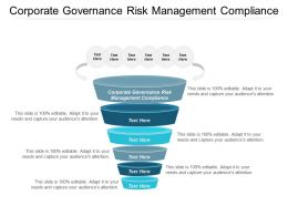 Corporate Governance Risk Management Compliance Ppt Powerpoint Presentation Gallery Layout Cpb
