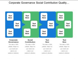 Corporate Governance Social Contribution Quality Management Business Application