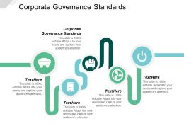 Corporate Governance Standards Ppt Powerpoint Presentation Icon Slide Cpb